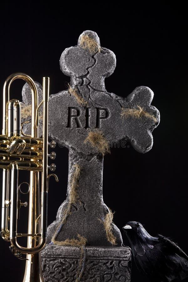 trumpet halloween вороны тягчайший стоковое изображение