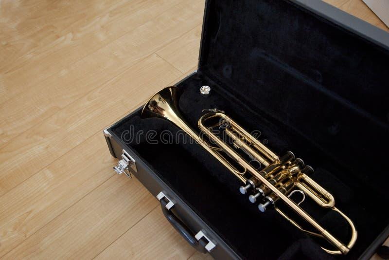 Trumpet i ett fall royaltyfri fotografi