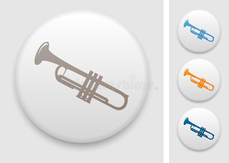 Trumpet icon royalty free illustration