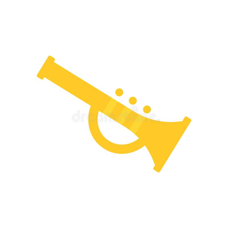 Trumpet icon vector sign and symbol isolated on white background, Trumpet logo concept vector illustration