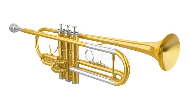 Trumpet Isolated. On white background. 3D render stock illustration