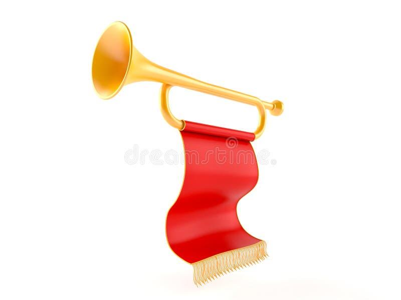 Trumpet. Isolated on white background stock illustration