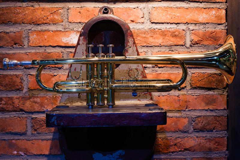 The Trumpet On The Mechanical Parts Royalty Free Stock Photo