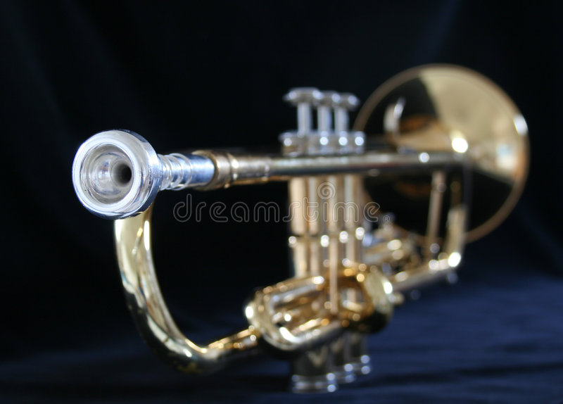 Download Trumpet mouthpiece stock image. Image of black, valves - 3193135