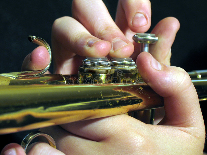 Download Trumpet player stock image. Image of fingers, marching - 107715