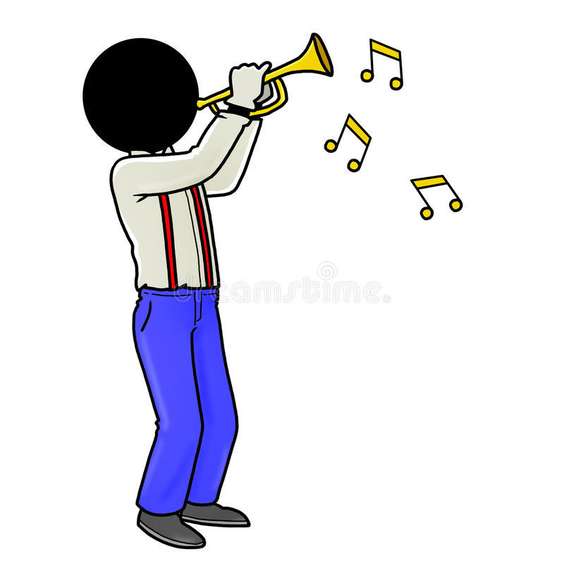 Download Trumpet player stock illustration. Image of musician - 18162910