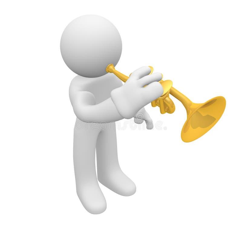 Download Trumpet player stock illustration. Illustration of golden - 23852074