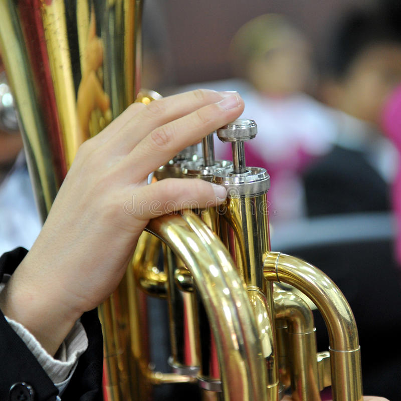 Download Trumpet player stock image. Image of classical, jazzy - 23856739