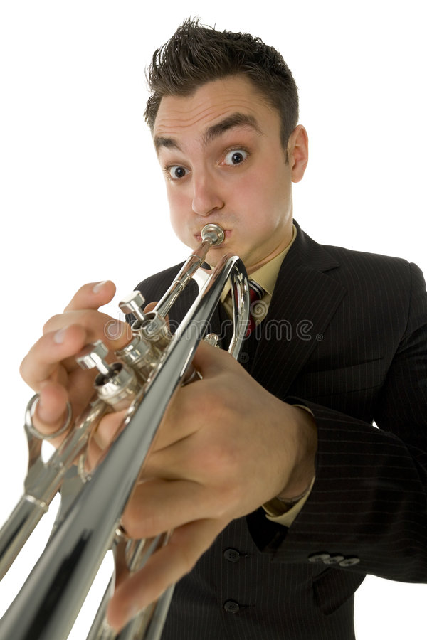Download Trumpet player stock image. Image of attire, formal, clothes - 4314783