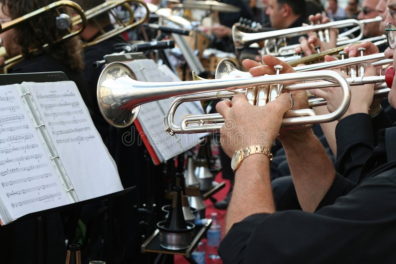 Download Trumpet Player Royalty Free Stock Image - Image: 882716