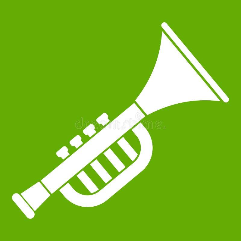 Trumpet toy icon green royalty free illustration