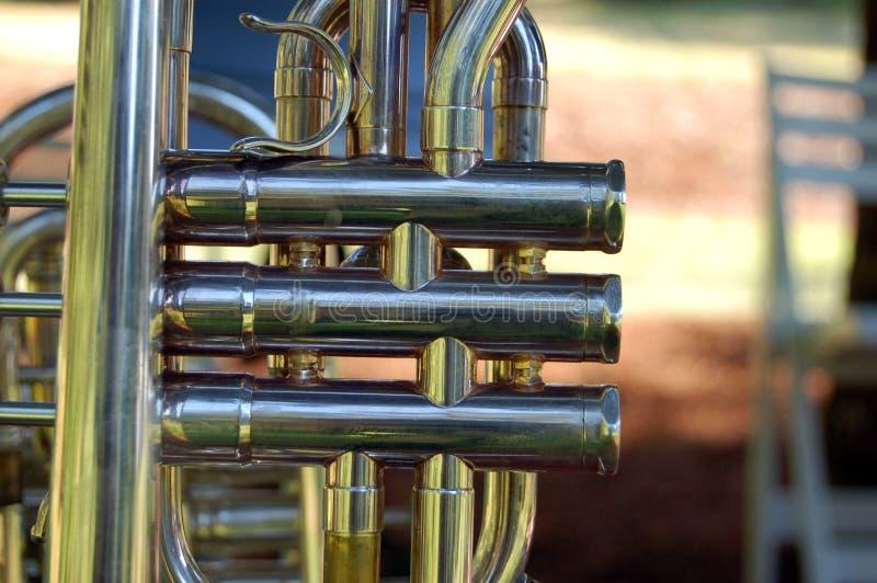 Download Trumpet valves  close up stock photo. Image of metal - 10007928