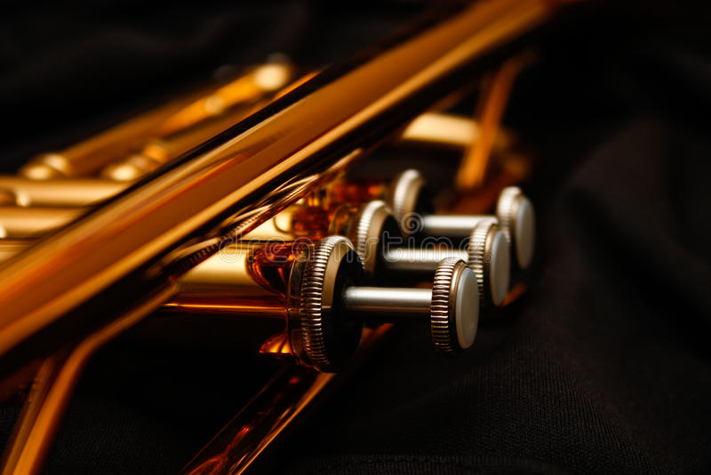 Trumpet Valves royalty free stock photos