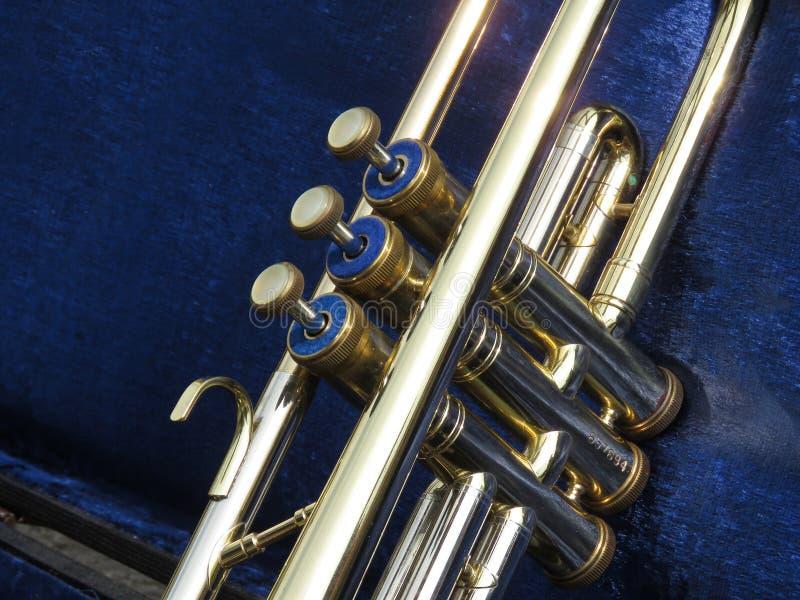 Trumpet valves royalty free stock image