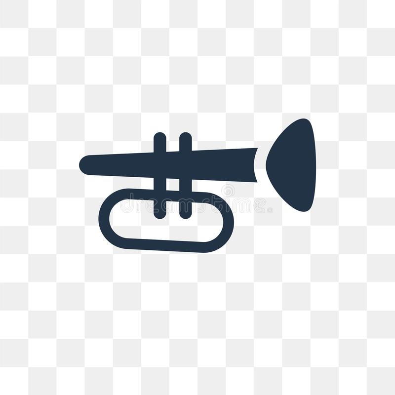 Trumpet vector icon isolated on transparent background, Trumpet vector illustration