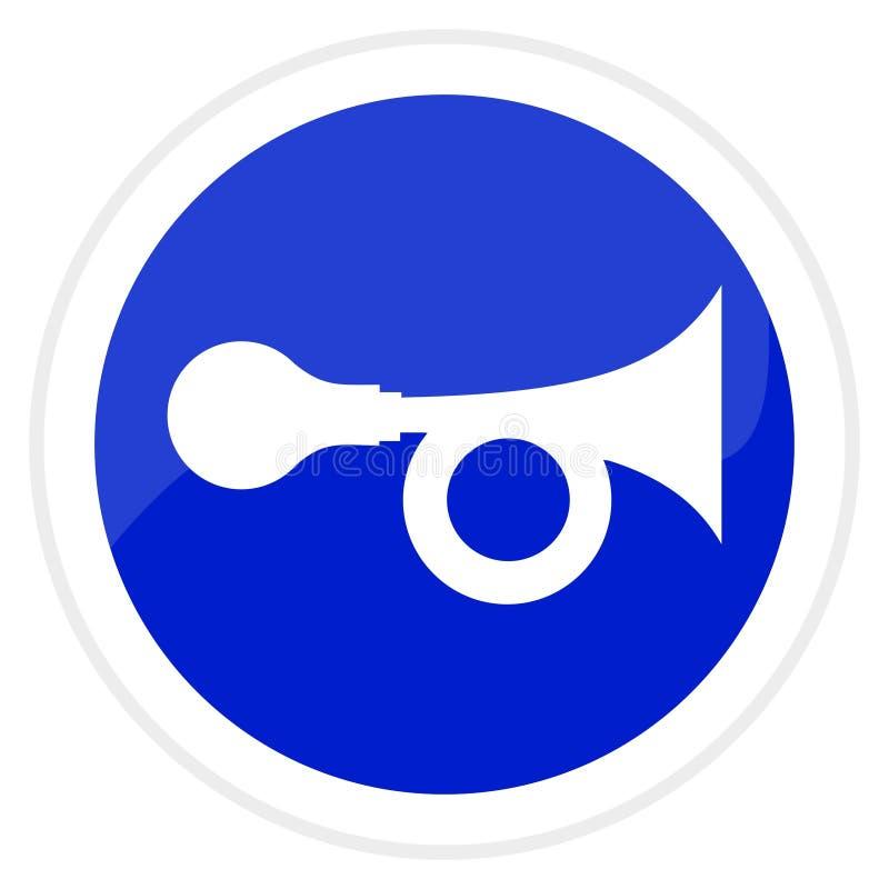 Trumpet web button vector illustration