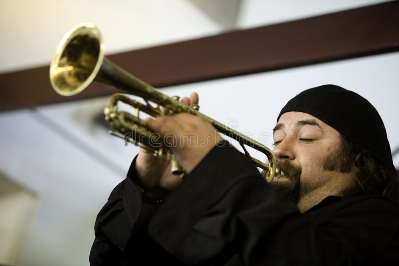 Trumpeter 1 royalty free stock images