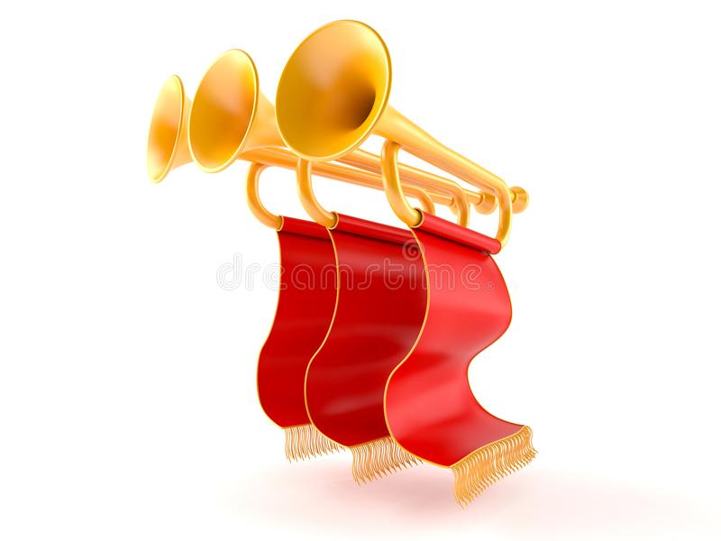 trumpeter stock illustrationer