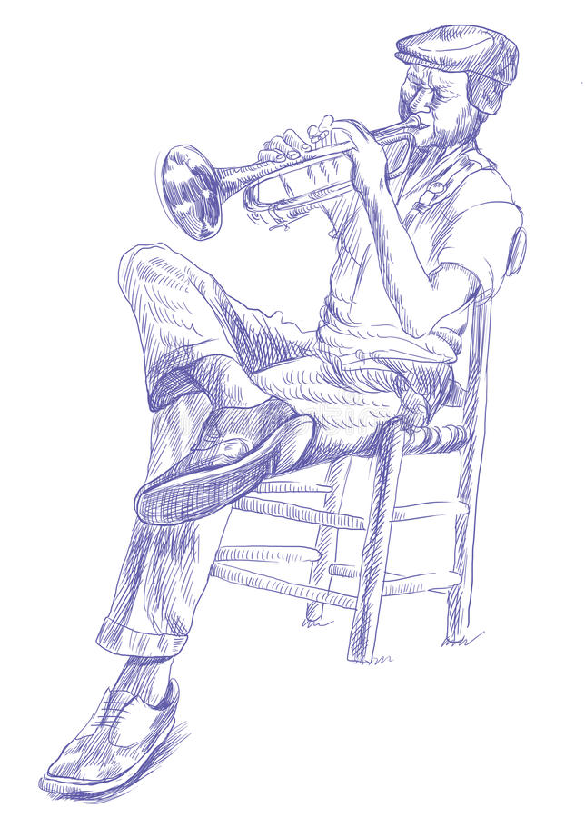 Download Trumpeter stock illustration. Illustration of orleans - 27078581