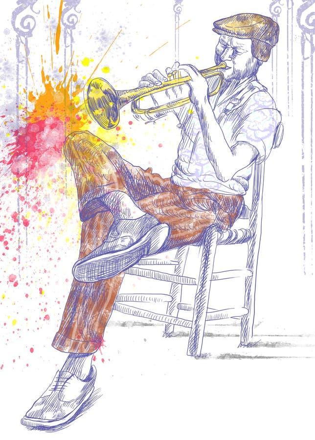 Download Trumpeter stock illustration. Illustration of jazzman - 27078607