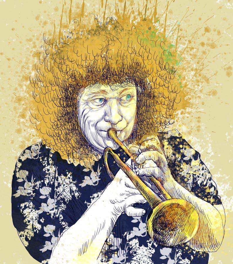 Download Trumpeter stock illustration. Illustration of audio, bass - 27078650