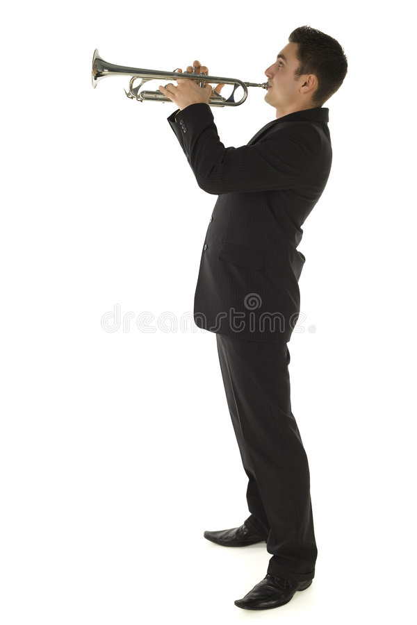 Download Trumpeter stock image. Image of hold, clothes, bugle, musical - 4314771