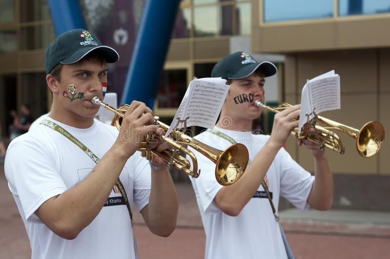 Trumpeters stock image