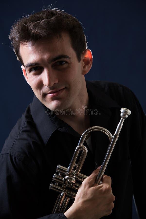 trumpetist zdjęcia royalty free