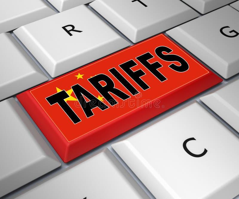Trumpf-Handels-Tarife auf China als Zahlung und Strafe - Illustration 3d lizenzfreie abbildung