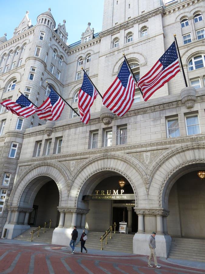 Trumpf-internationales Hotel im Washington DC stockfotografie