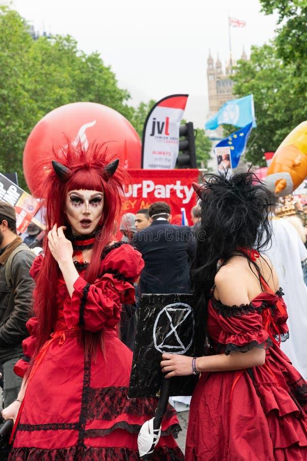Trumpf-Protest in Westminster, London lizenzfreies stockbild