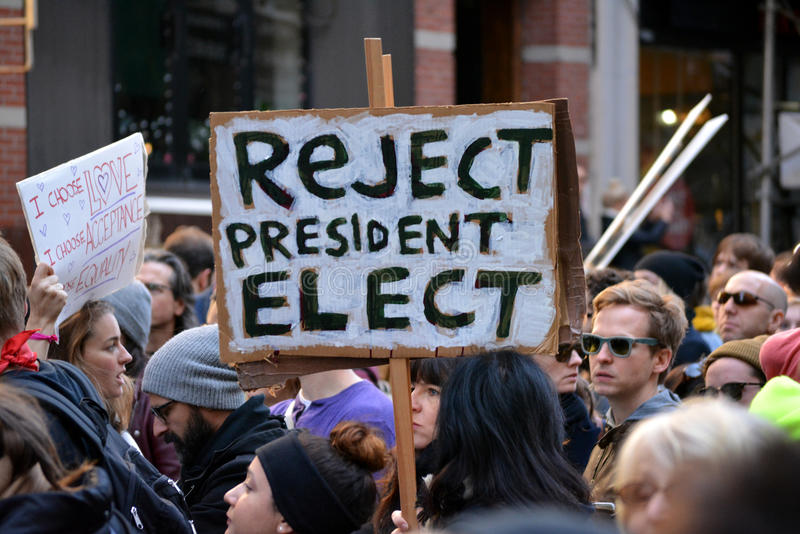 Trumpf-Proteste stockfotografie