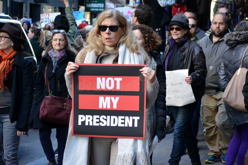Trumpf-Proteste lizenzfreie stockbilder