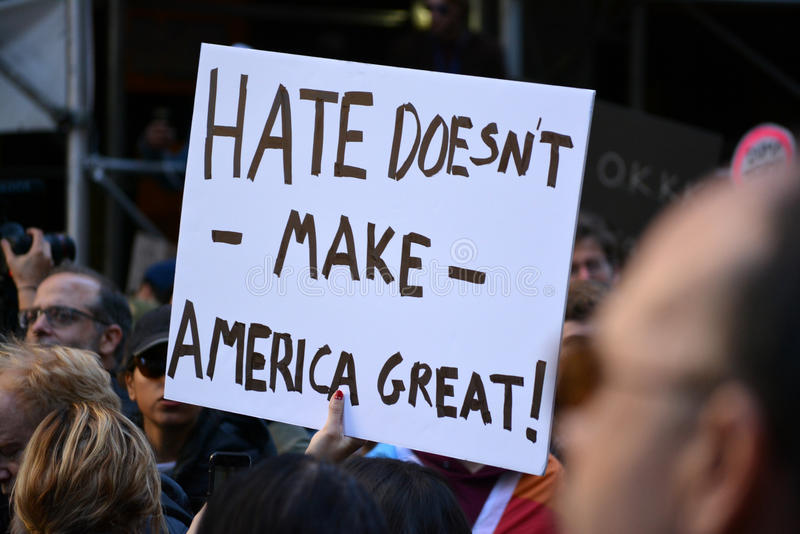 Trumpf-Proteste stockbilder