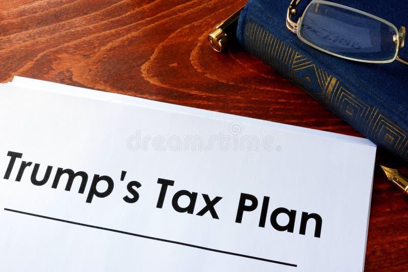 Trumpf-Steuer-Plan stockfotos
