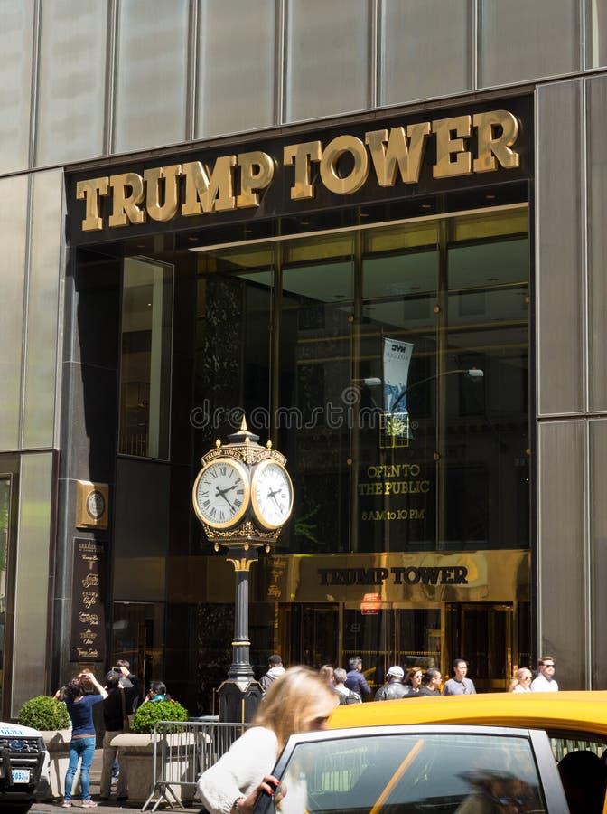 Trumpf-Turm in New York lizenzfreie stockfotos