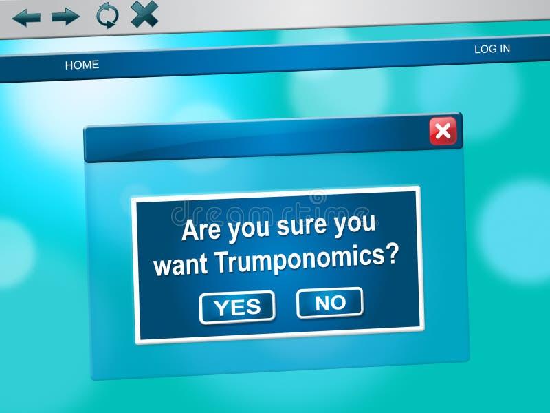 Trumponomics ou finança de governo dos EUA da economia do trunfo - 2d ilustração ilustração stock