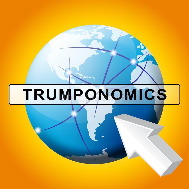 Trumponomics ou finança do mercado de governo dos EUA da economia do trunfo - ilustração 3d ilustração do vetor