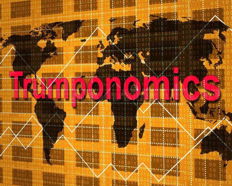 Trumponomics ou finança do mercado de governo dos EUA da economia do trunfo - ilustração 3d ilustração royalty free