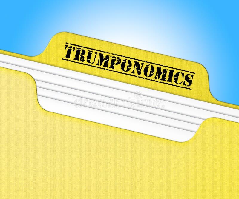 Trumponomics Or Trump Economics Usa Government Finance - 2d Illustration. Trumponomics Or Trump Economics Usa Government Finance. Stock Market And Economy In The vector illustration