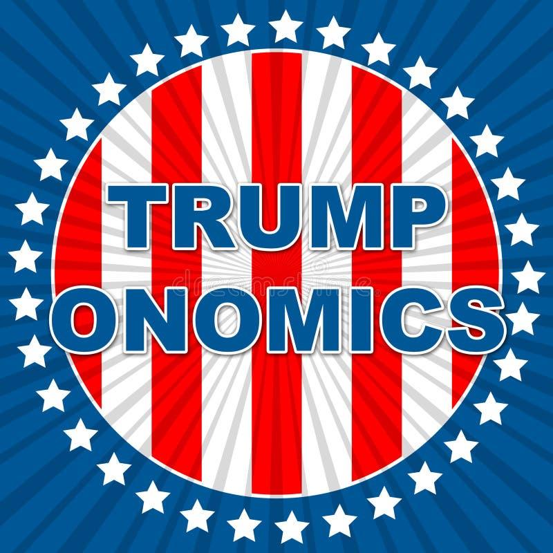 Trumponomics Or Trump Economics Usa Government Finance - 2d Illustration. Trumponomics Or Trump Economics Usa Government Finance. Stock Market And Economy In The stock illustration