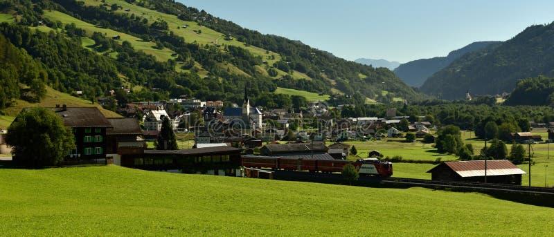 Trun, Surselva, Switzerland royalty free stock images