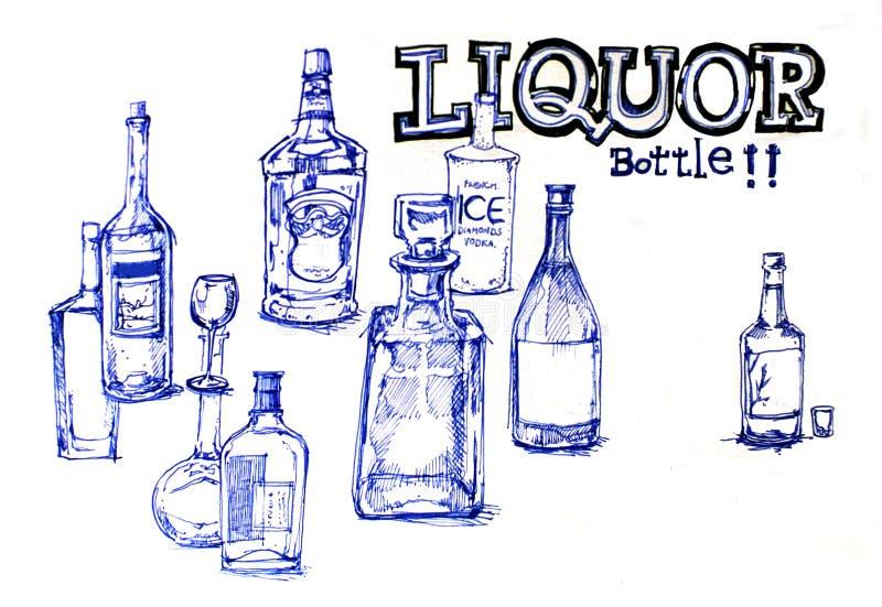 Trunek butelkuje ilustrację royalty ilustracja