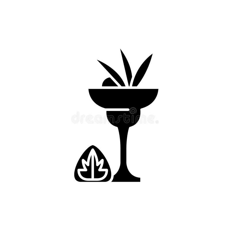 Trunek czarna ikona, wektoru znak na odosobnionym tle Trunku pojęcia symbol, ilustracja royalty ilustracja