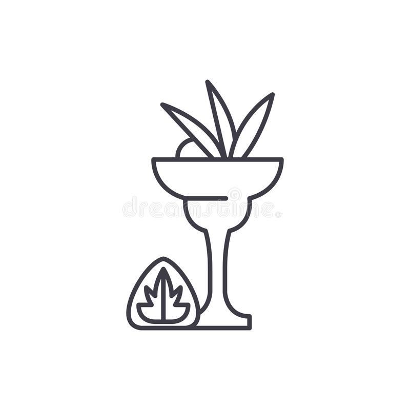 Trunek ikony kreskowy pojęcie Trunek wektorowa liniowa ilustracja, symbol, znak ilustracja wektor