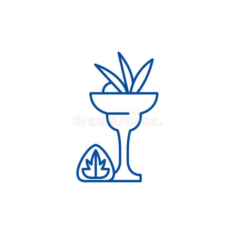 Trunek ikony kreskowy poj?cie Trunku p?aski wektorowy symbol, znak, kontur ilustracja royalty ilustracja