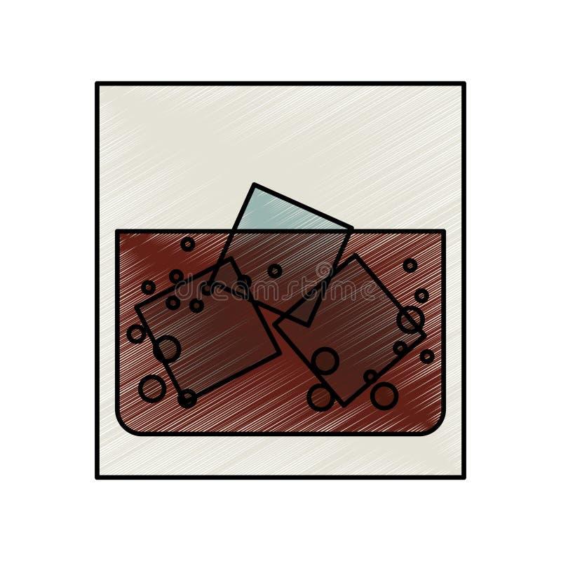 Trunek w skałach ilustracji
