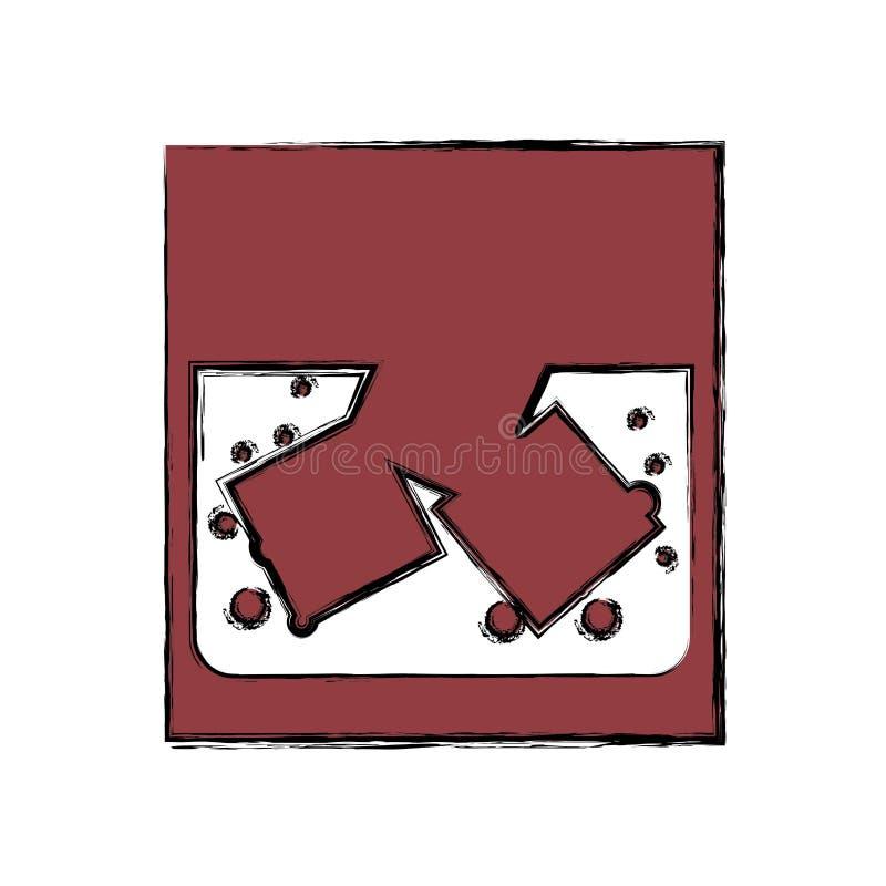 Trunek w skałach royalty ilustracja