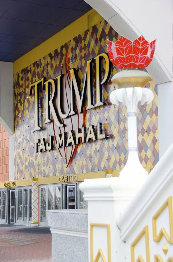 Trunfo Taj Mahal Hotel e casino em Atlantic City imagem de stock