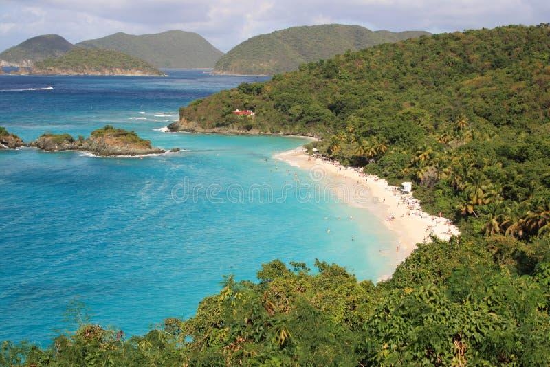 Trunk Bay, St John, US Virgin islands. Famous Trunk Bay, St John, US Virgin islands stock images